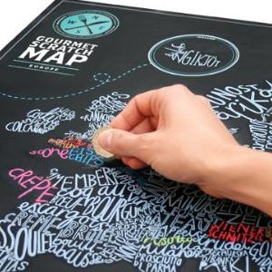 gourmet spezialitäten scratch map karte