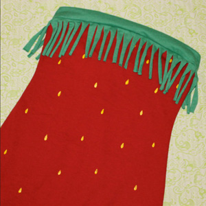 erdbeer kleid