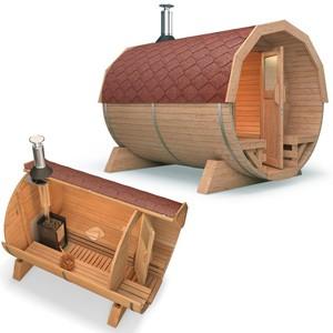 sauna fass tonne isidor ofen