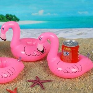 flamingo bier halter pool aufblasbar