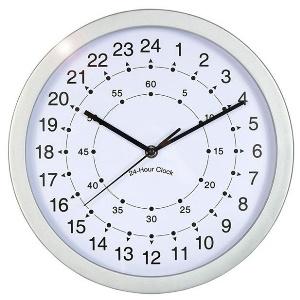 wanduhr 24 stunden