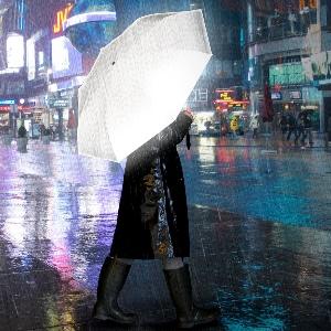 regenschirm weiss reflektierend