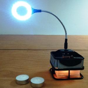 lampe thermoelektrisch led hitze