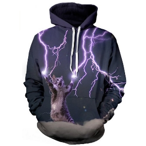 pullover hoodie katze blitz